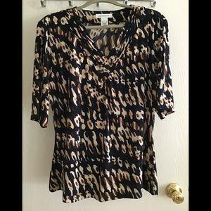 Liz Claiborne women's XL leopard print 👚 shirt
